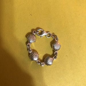 Clam seashell ring chain size 8-9 large